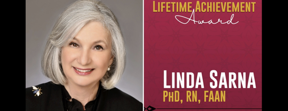 Dean Linda Sarna, ONS 2018 Lifetime Achievement Award recipient