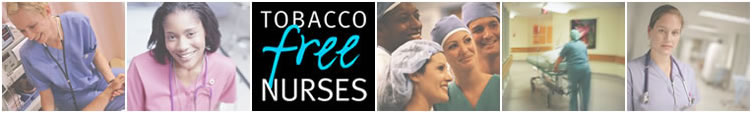 Tobacco Free Nurses logo photo banner