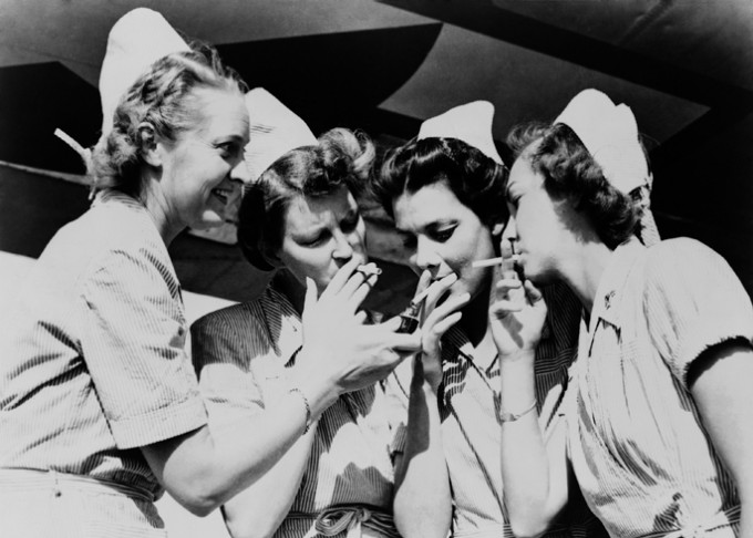 When Nurses Smoked in Hospitals